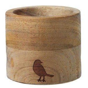 Eierbecher Set rund PET Vogel Akazie und Porzellan Räder