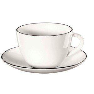 Kaffeetasse mit Untere 200 ml à table ligne noir ASA