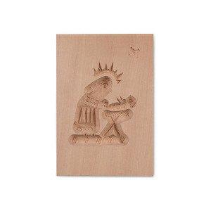 Springerle Maria/Krippe 8x5,5cm Birnbaumholz Städter