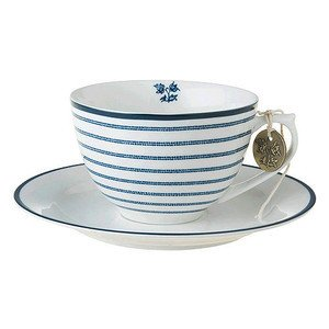 Cappucino Tasse m. U. Candy Stripe Laura Ashley