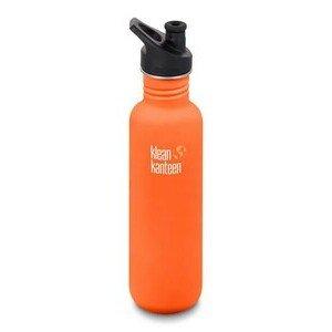 Trinkflasche Classic orange matt 800ml Sport Cap klean kanteen