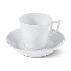 """Kaffee-Obertasse 150 ml x 8 cm x 7 cm konisch """"Kurland weiss"""" KPM Berlin"""