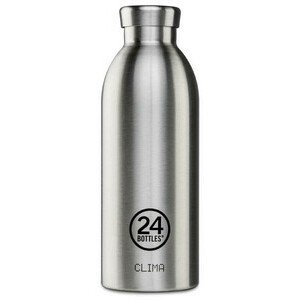 Thermo Trinkflasche 0,5 l Clima Bottle silber 24bottles