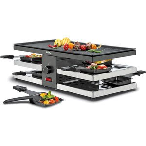 Raclette 8 Fun mit Alugrillplatte 1300 Watt Spring