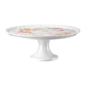 """Tortenplatte auf Fuß 31,5 cm Blumen """"Maria Pink Rose"""" Rosenthal"""
