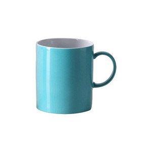 "Becher 300 ml zylindrisch mit Henkel ""Sunny Day Turquoise"" turquois Thomas"
