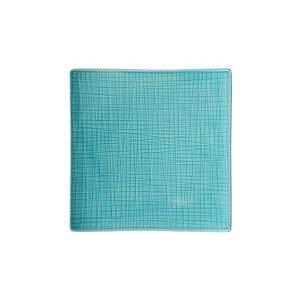 """Teller 22 cm x 22 cm quadratisch """"Mesh Aqua"""" Rosenthal"""