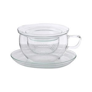 Teetasse mit Glassieb 0,3ltr. Tea Time Trendglas