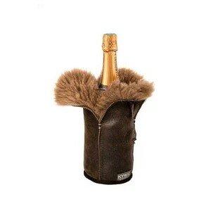 Champagnerkühler Brown Hairy Leder Kywie