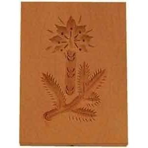 Springerle Zweig mit Kerze 8x5,5cm Birnbaumholz Städter