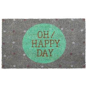 Kokosmatte Oh happy Day! grau Gift Company