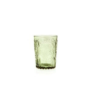 Wasserglas L Fleur de Lys Green Van Verre