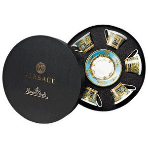 "Teetasse mit Untertasse 6 Stk. 220 ml ""Prestige Gala Le Bleu"" Versace"