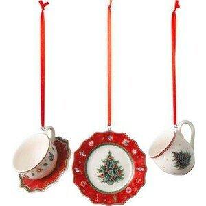 Ornamente Geschirrset rot 3tlg Toys Delight Decoration Villeroy & Boch