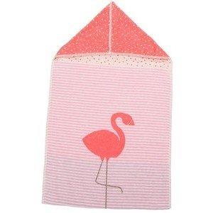 45 x 76 cm Puckdecke m.Kapuze Flamingo rosa David Fussenegger