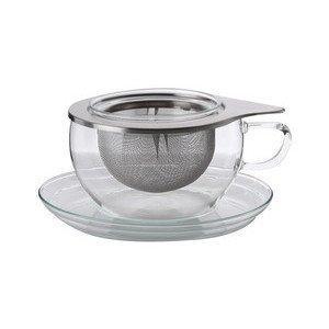 Teetasse mit Edelstahlsieb 0,4 l Tea Time Trendglas