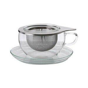 Teetasse mit Edelstahlsieb 0,4 l Tea Time S Trendglas