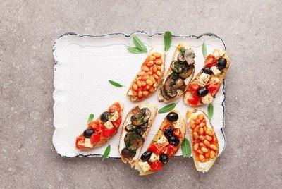 Gourmetteller zum Anrichten exquisiter Speisen