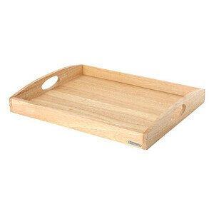 Tablett 50x39cm rechteckig Holz Continenta