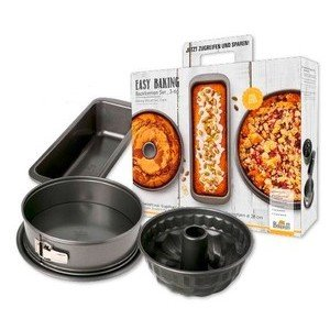Backformenset 3 teilig Easy Baking RBV Birkmann