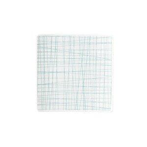 Teller quadr. 14 cm flach Mesh Line Aqua Rosenthal