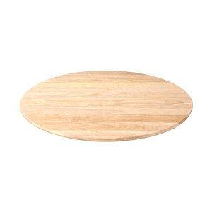 Drehplatte rund 40 cm Gummibaum geölt Continenta