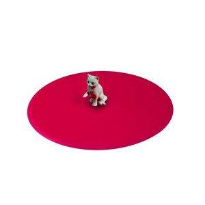 Sommerdeckel Katze Silikon pink rund Lurch