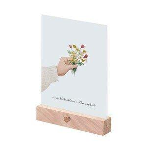 Kartenständer 10,5cm 2er Set natur Eulenschnitt