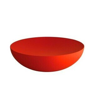 Schale 32cm rot m. Relief Double Alessi
