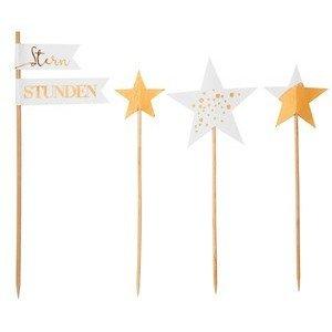 Winterparty klein Sterne H.18cm Sternstunden Räder