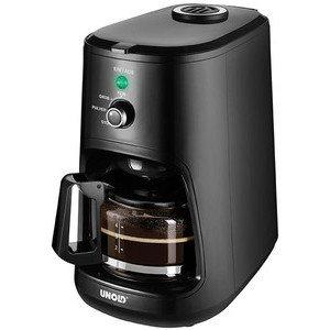Kaffeeautomat Kompakt schwarz mit Mühle Unold