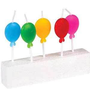 Geburtstagskerze 5er Pack Luftballons Rex International