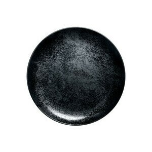 Teller flach coup 29 cm Fusion Karbon schwarz RAK