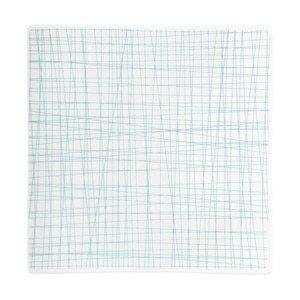 Teller quadr. 22 cm flach Mesh Line Aqua Rosenthal