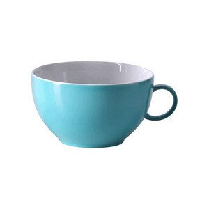 "Cappuccino-Obertasse 380 ml rund ""Sunny Day Turquoise"" turquois Thomas"