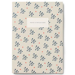 Small Softcover Notebook KARTOTEK // Floral Sand Mark's Europe