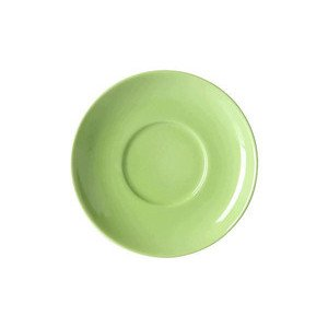 Cappuccinountertasse Solid Color Maigrün rund Dibbern