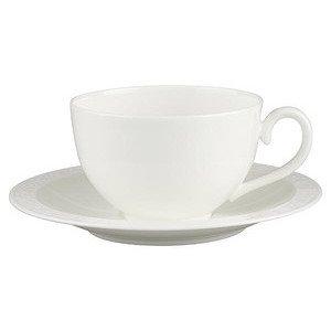 """Frühstückstasse mit Untertasse 400 ml x 18 cm rund """"White Pearl"""" Villeroy & Boch"""
