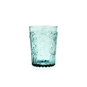 Wasserglas L Fleur de Lys blue Van Verre