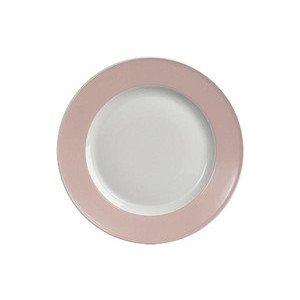 "Teller 28 cm ""Solid Color Zartrosa"" flach Dibbern"