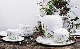 Set Bone China 6-teilig Fleurs Sauvages Brillance Kombi-Set Rosenthal