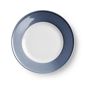 Teller flach 28 cm Fahne Solid Color indigo Dibbern