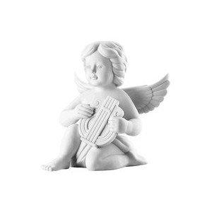 Engel gross mit Lyra Weiss matt Rosenthal