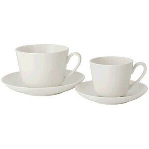 Kaffee-/Teetasse m.U. 2tlg Twist White Villeroy & Boch