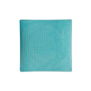 """Teller 27 cm x 27 cm quadratisch """"Mesh Aqua"""" Rosenthal"""