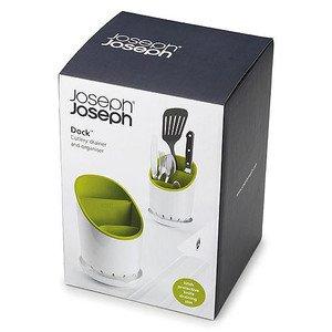 Besteck Abtropfbehälter grün/weiss Dock Joseph Joseph