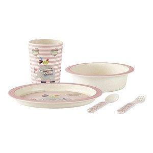 Kinder-Set 5 tlg. rosa Bamboo rose KJ Collection