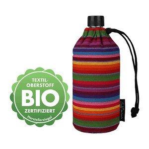 Glasflasche 0,6l Bio Streifen Emil