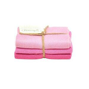 Wischtücher 3er-Pack rosa Solwang