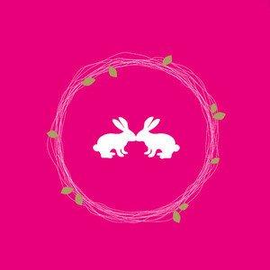 OSTERN Serviette 33x33cm Hasen pink Räder
